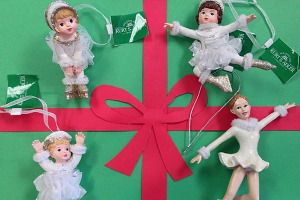 Figure Skating Christmas Tree Ornaments