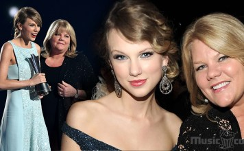 Taylor Swift with Mother(Andrea)