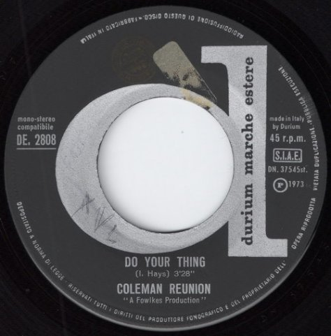 Coleman Reunion - Do You Thing (Durium) 1973