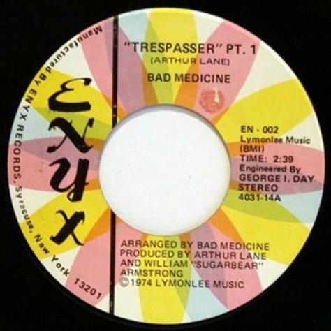 Bad Medicine - Trepasser 7'' (Enyx) 1974