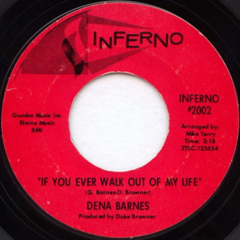 Dena Barnes – If You Ever Walk Out Of My Life (Inferno #2002) 1967
