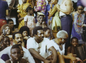 Tina Turner, Ike Turner, Wilson Pickett and Pops Staples in Aburi 1971