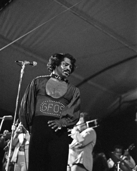 James Brown In Concert Black & White Photo