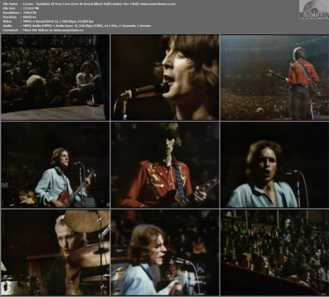 Cream - Sunshine Of Your Love (Live At Royal Albert Hall London, Nov 1968)