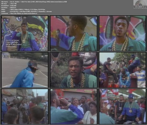 Eric B. & Rakim – I Ain't No Joke [1987, Old School Rap, DVD-VOB] Music Video (Re:Up)