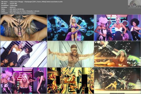 Sahara feat. Shaggy - Champagne (2011, Dance, HDrip)