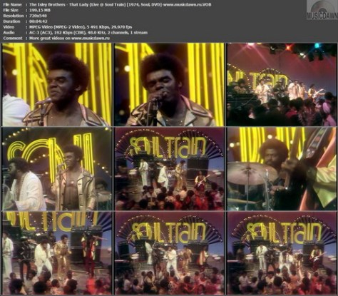 The Isley Brothers – That Lady (Live @ Soul Train) [1974, DVD-VOB] Music Video