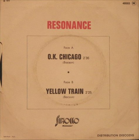 Resonance - O.K. Chicago / Yellow Train Back Art