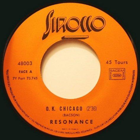 Resonance - O.K. Chicago Side A Label Scan