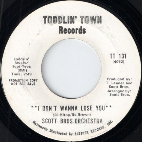 Scott Brothers Orchestra - I Don't Wanna Lose You Part 1