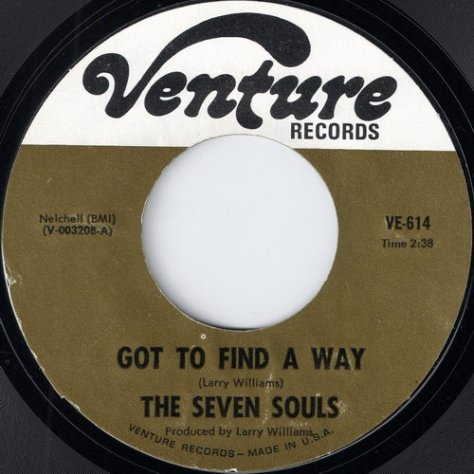 The Seven Souls - Got To Find A Way (Venture  # VE-614 Apple Scan)