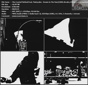 The Crystal Method Feat. Matisyahu – Drown In The Now [2009, DVDrip] Music Video