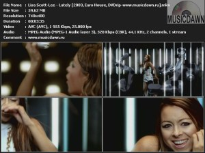 Lisa Scott-Lee - Lately (2003, Euro House, DVDrip)
