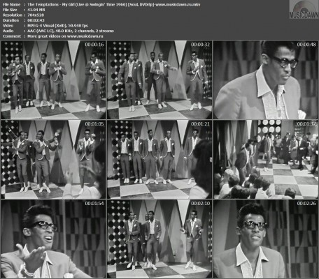 The Temptations – My Girl (Live @ Swingin' Time 1966) [DVDrip] Music Video