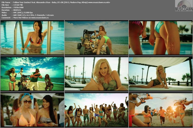 Follow Your Instinct feat. Alexandra Stan - Baby, It's Ok [2013, Modern Pop, HD 1080p]