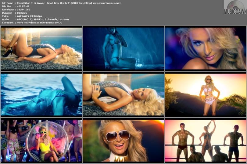 Paris Hilton ft. Lil Wayne - Good Time (Explicit) [2013, Pop, HD 1080p]