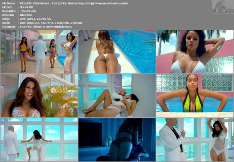 Видео Pitbull ft. Chris Brown - Fun Full HD 1080p Video