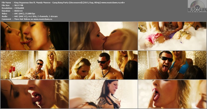Клип King Orgasmus One ft. Mandy Monroe - Gang Bang Party (Uncensored) HD 1080p Video