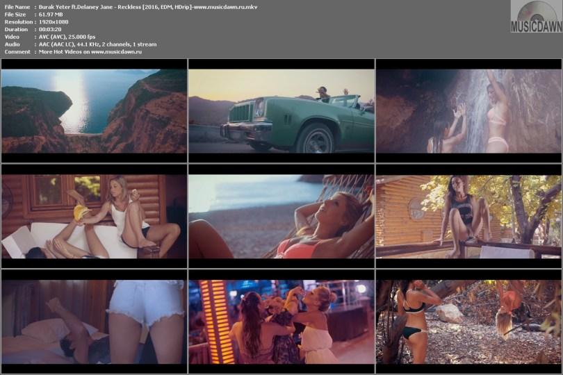 Клип Burak Yeter ft.Delaney Jane - Reckless [2016, EDM, HDrip]