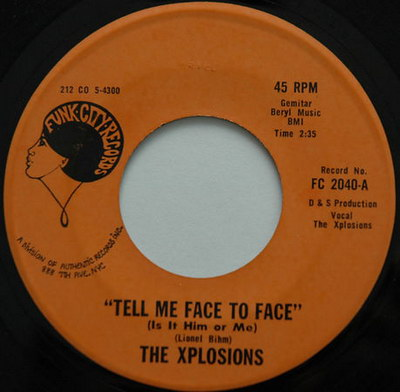 "The Xplosions – Tell Me Face To Face [7""] (Funk City) '1970"