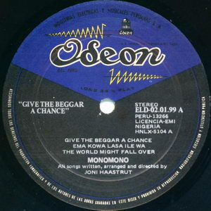 Monomono - Give The Beggar A Chance - The Lightning Power Of Awareness 1972 Side A