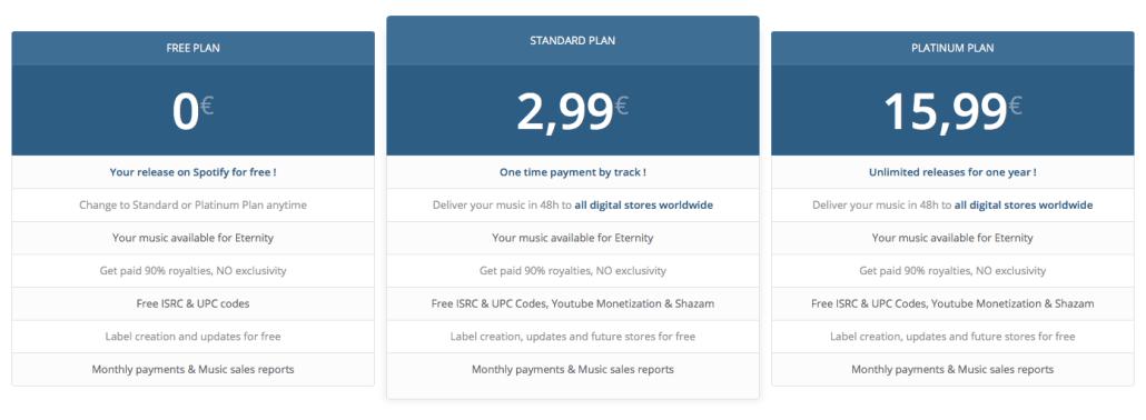 MusicDiffusion pricing plans