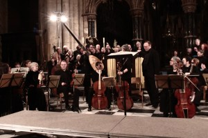 Applause for Hector Sequera and his theorbo. (Photo Gavin Engelbrecht)
