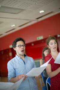 NYCGB members rehearsing at the Gala