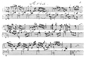 The Aria from Bach's Goldberg Variations.