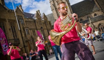 Oompah Brass performing at streets of brass 2014