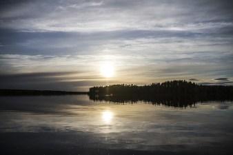 Summer Finnish Lake Sky Landscape Water Clouds