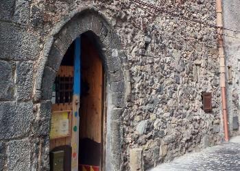 Medieval doorway of casa della musica, Randazzo