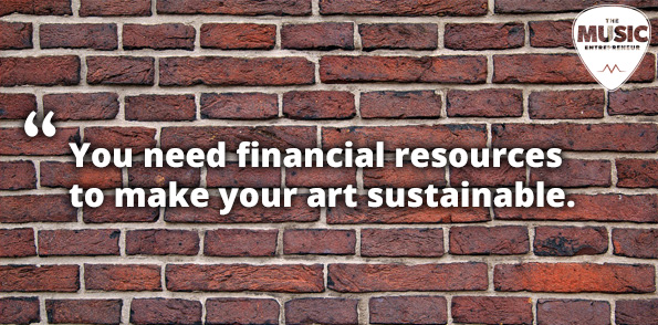 Financial resources to sustain your music career