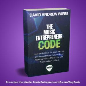 Pre-order The Music Entrepreneur Code Kindle