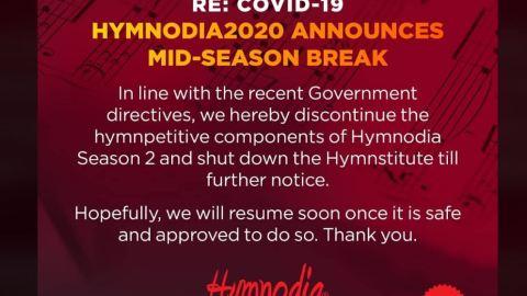 Hymnodia season 2 shut down