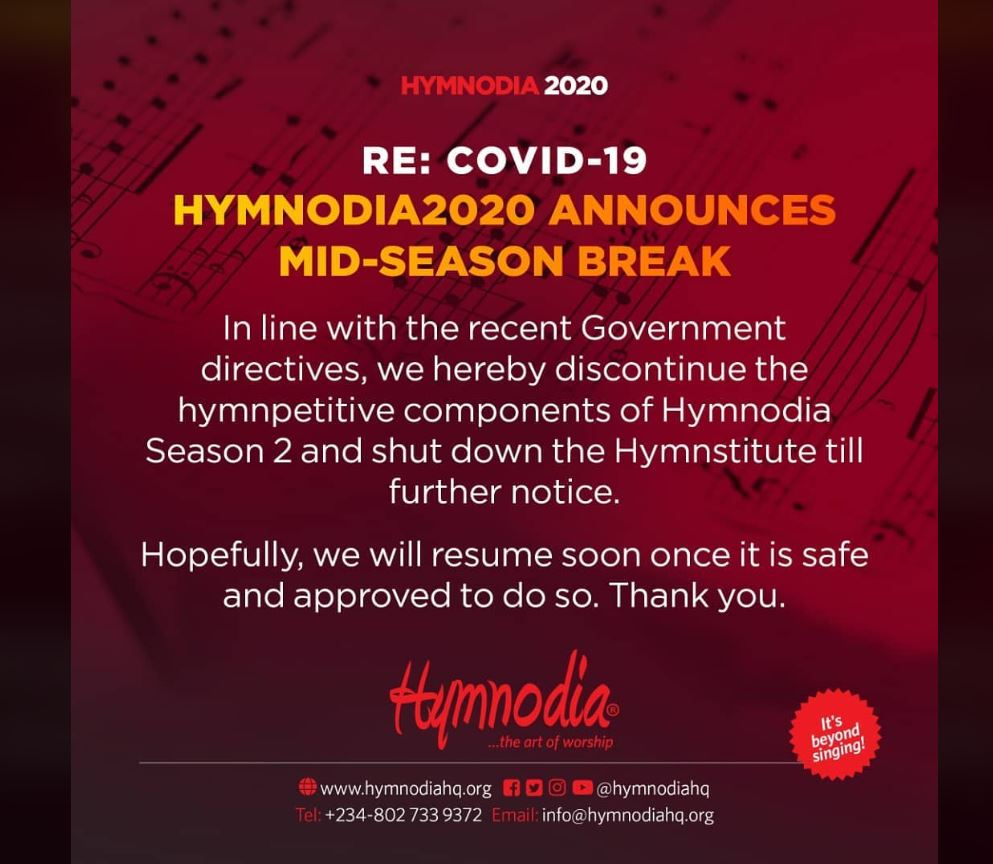 Hymnodia season 2 shut down
