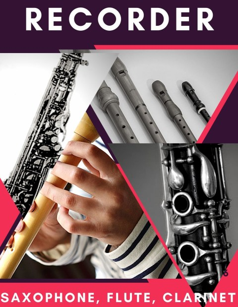 Recorder, Saxophone, Flute and Clarinet