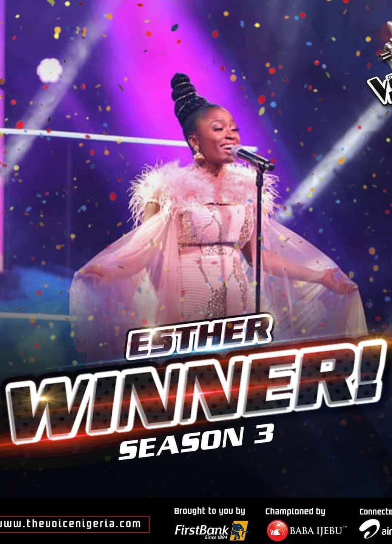 Esther winner of the voice season 3
