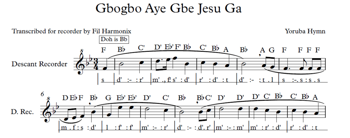 Preview of sheet music
