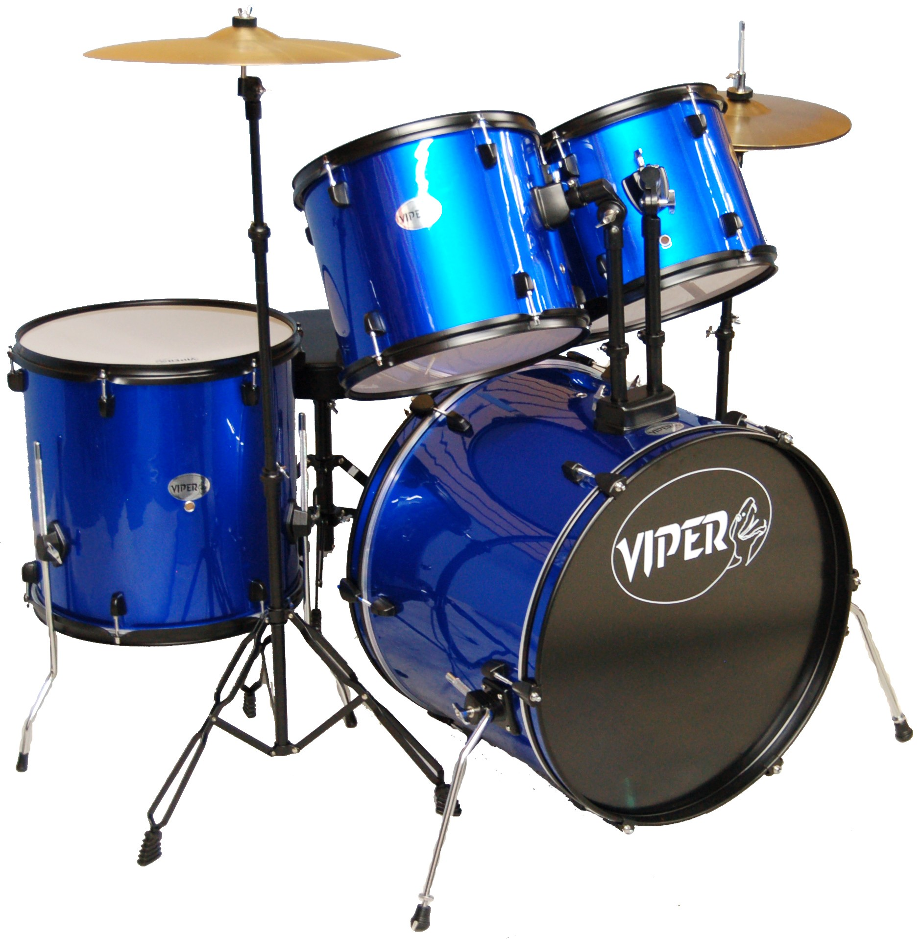 VIPER STUDENT DRUM SET METALLIC BLUE