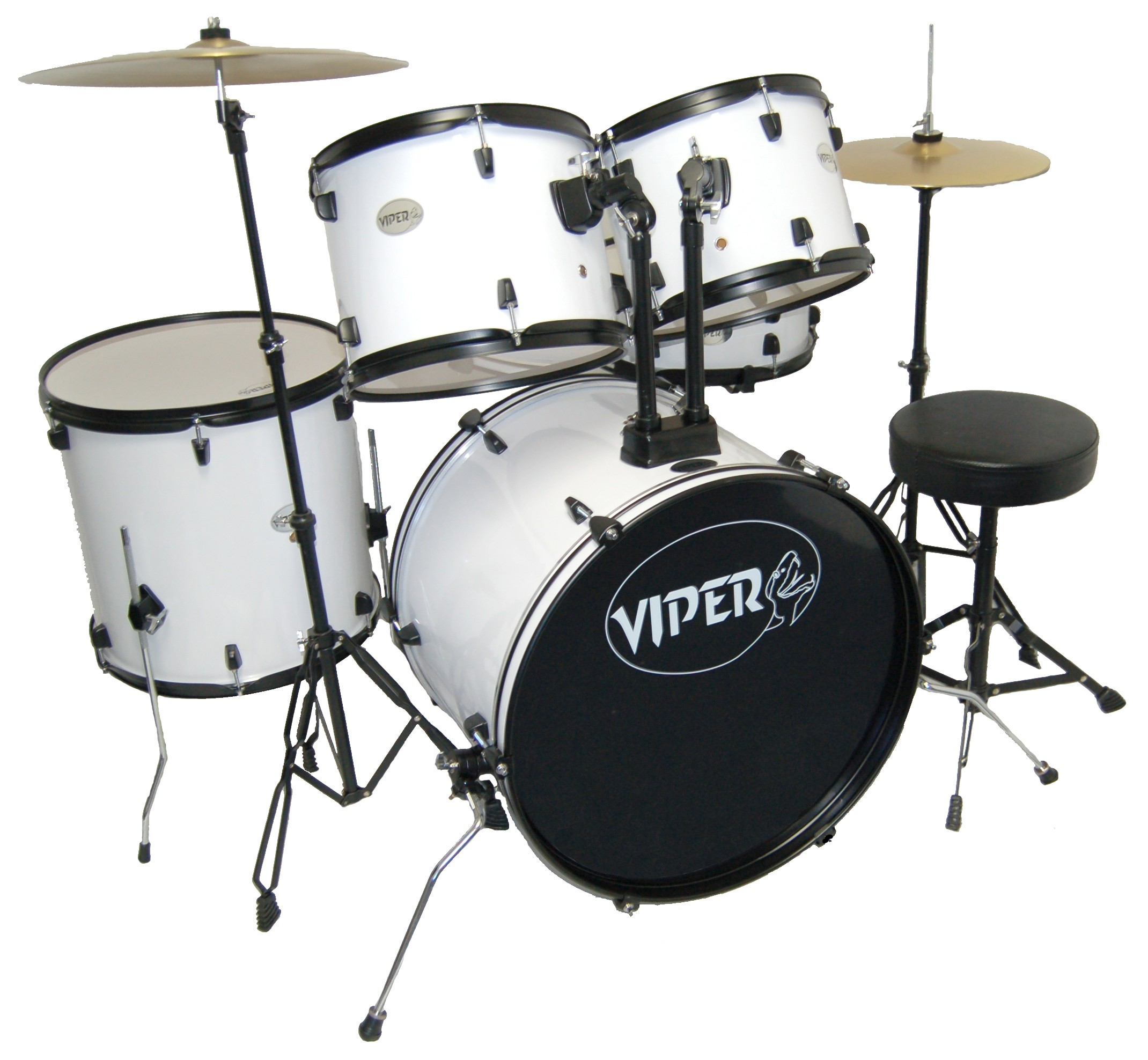 VIPER STUDENT DRUM SET WHITE