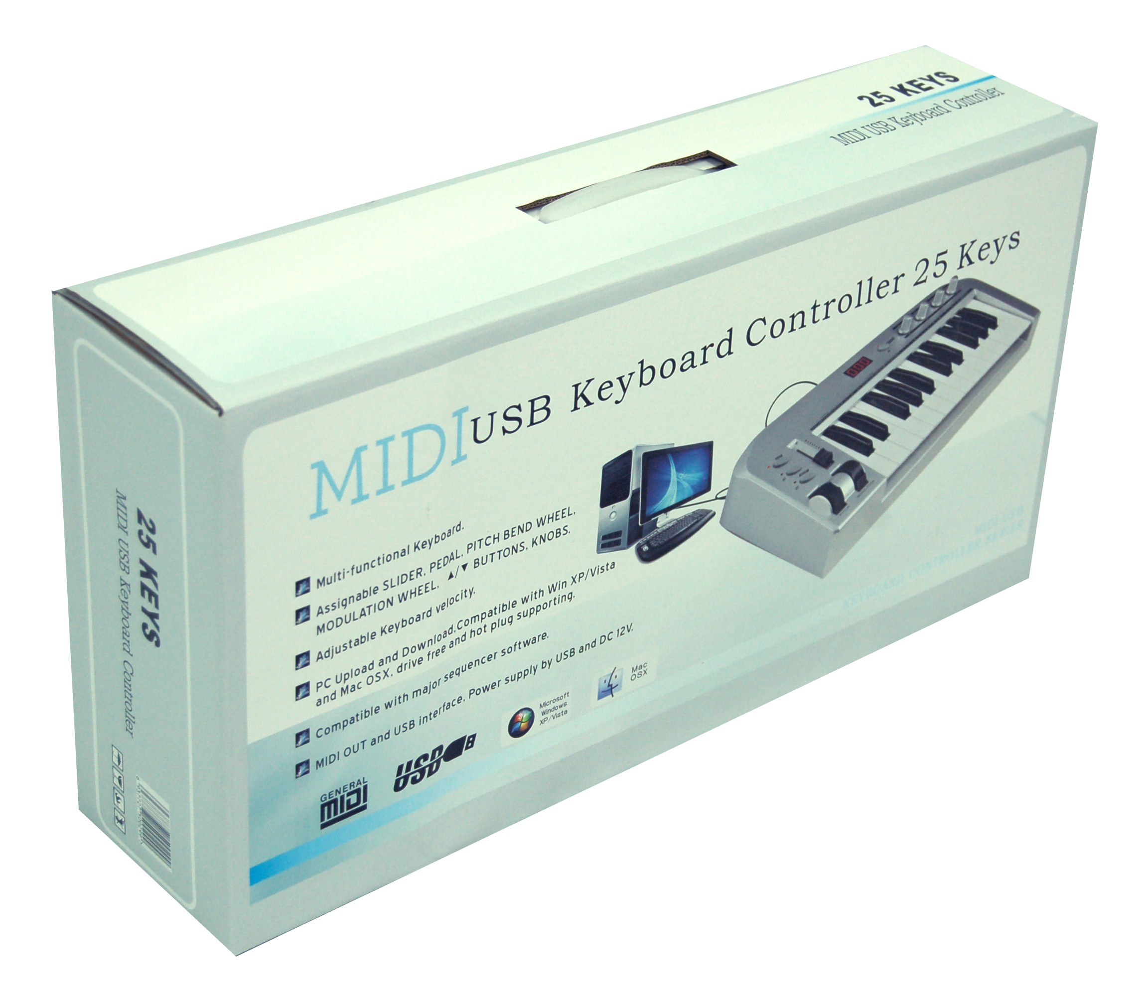 GROOVE FACTORY 25 KEYS USB MIDI CONTROLLER