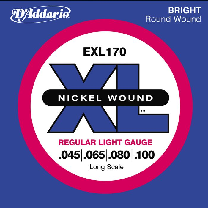 D'Addario EXL170 – Nickel Round Wound LONG SCALE 45-100