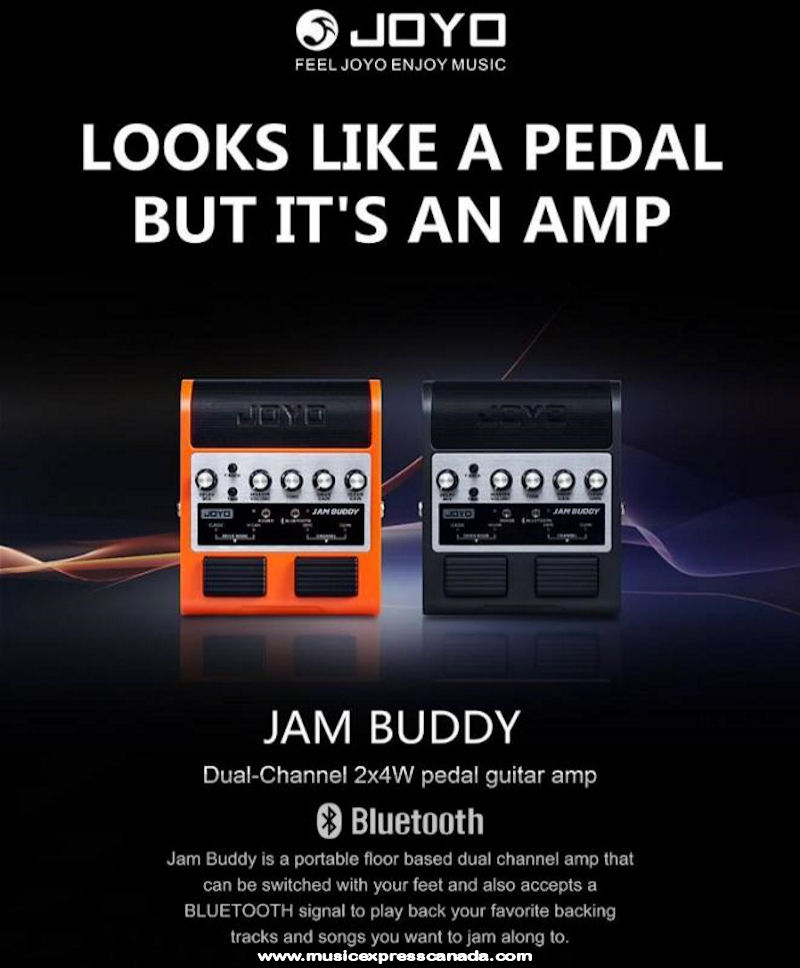 JOYO JAM BUDDY Dual channel 2x4W Amp Pedal Black