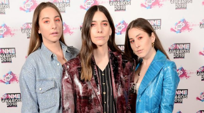 WATCH :: Haim win Best International Band VO5 NME Awards 2018
