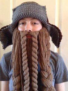 woman with ornate false beard