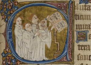 men in white singing from shared copy
