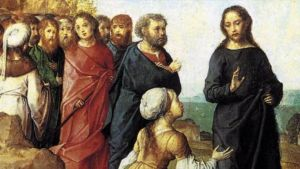 Woman addressing Jesus