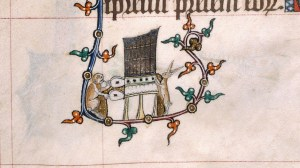 mediaeval animals playing pump organ