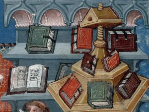 Monastic book shelves